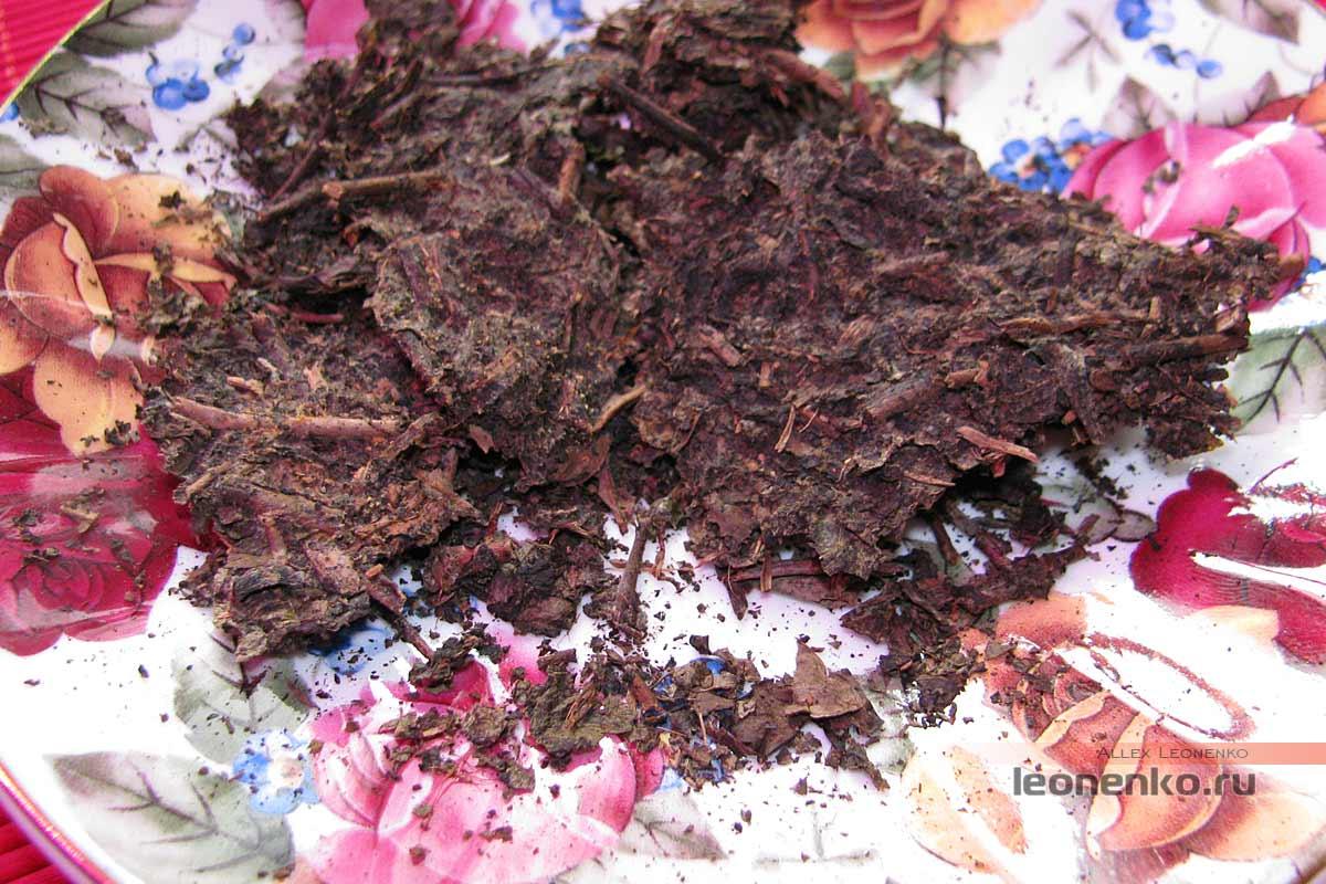 Фу Ча от Baishaxi – Аньхуанский черный чай - золотая плесень Цзинь Хуа