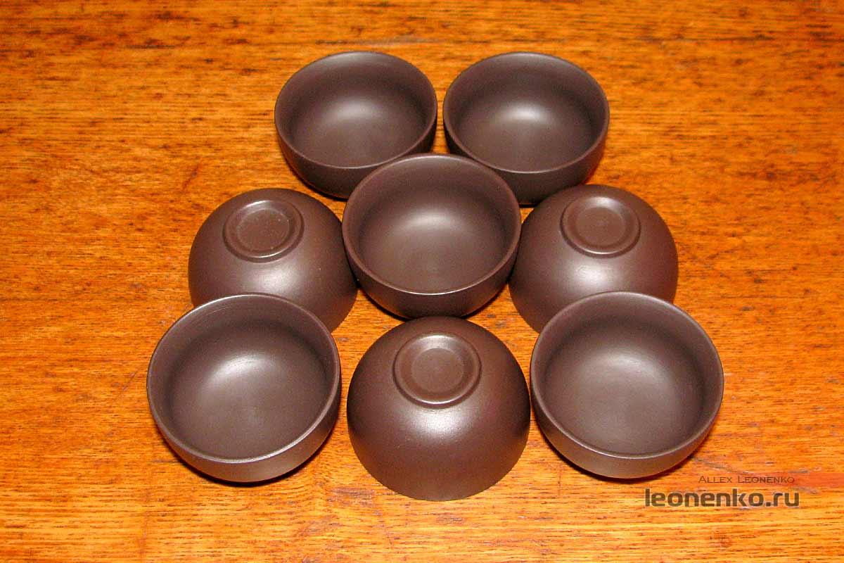 Глиняный набор для чайной церемонии - чаши