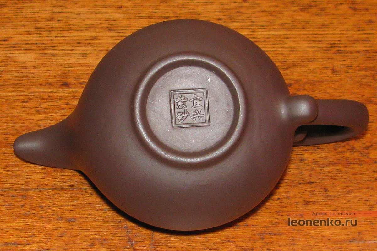 Глиняный набор для чайной церемонии - печать на дне чаши справедливости