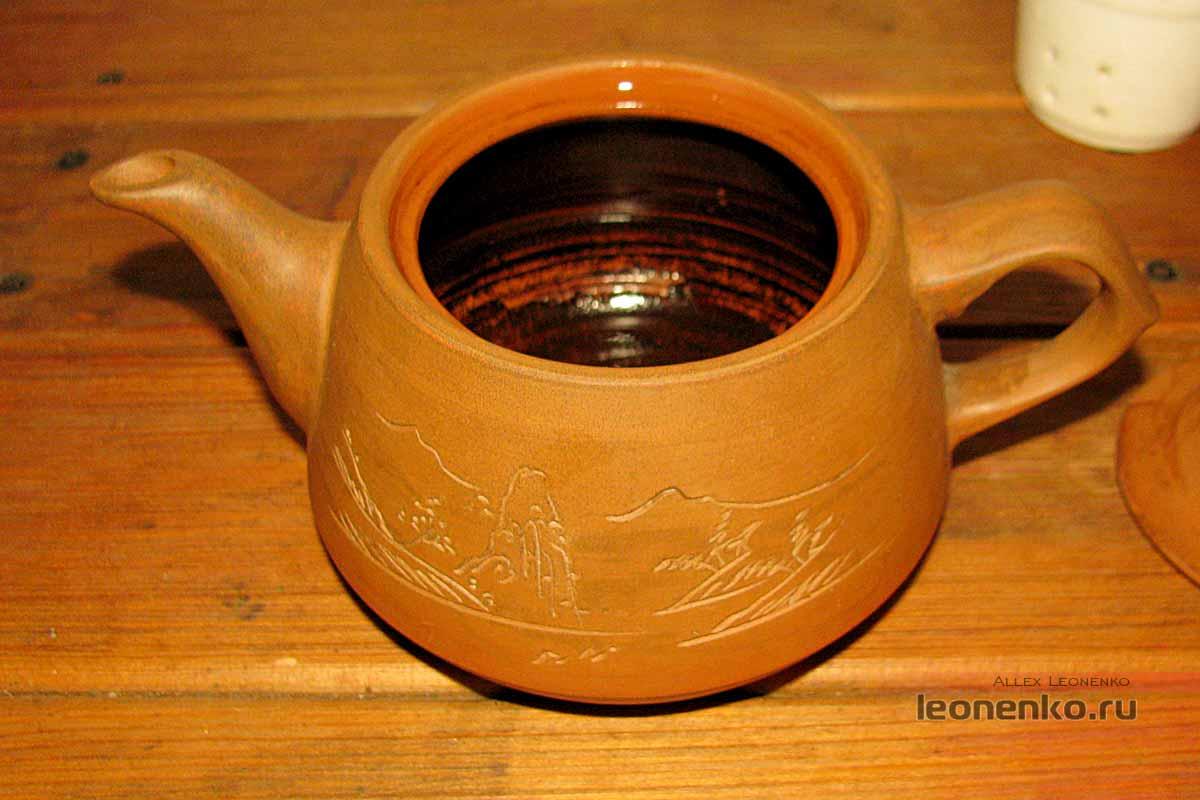 Глиняный чайник - налет за долгие годы
