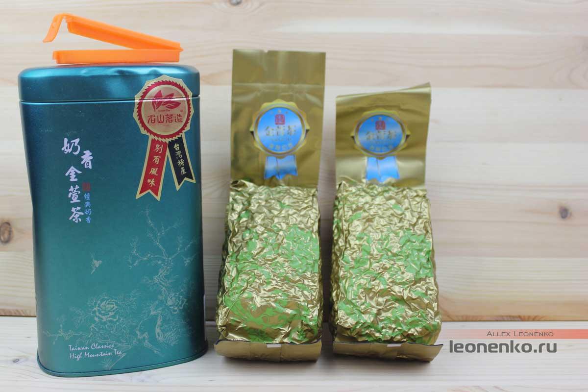 Банка для чая и пакеты с чаем