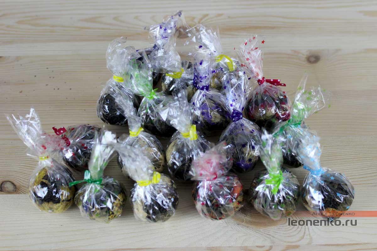 Чай Дянь Хун с добавками цветов в виде жемчужин дракона