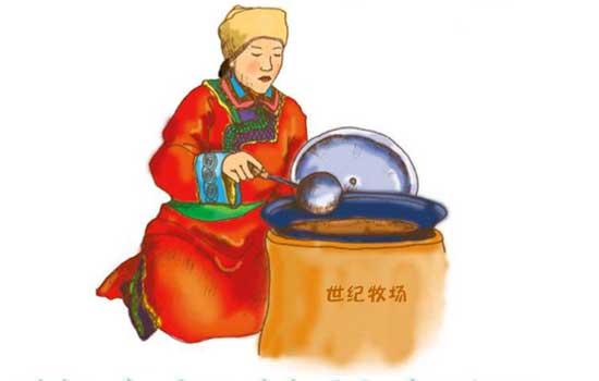 монгольский чай с молоком и солью
