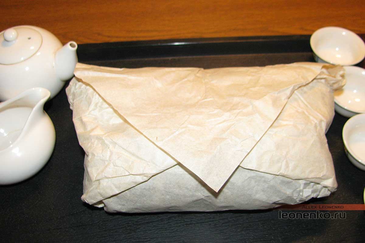 Старый пака - купленный чай, упаковка