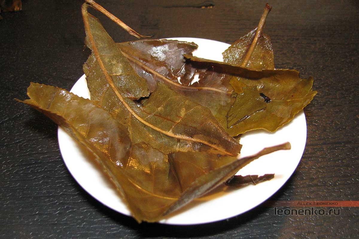 Старый пака пуэр - спитой лист