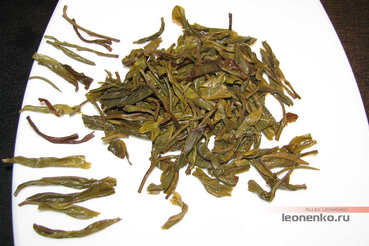 Шен пуэр с древних деревьев Си Бици - спитой лист
