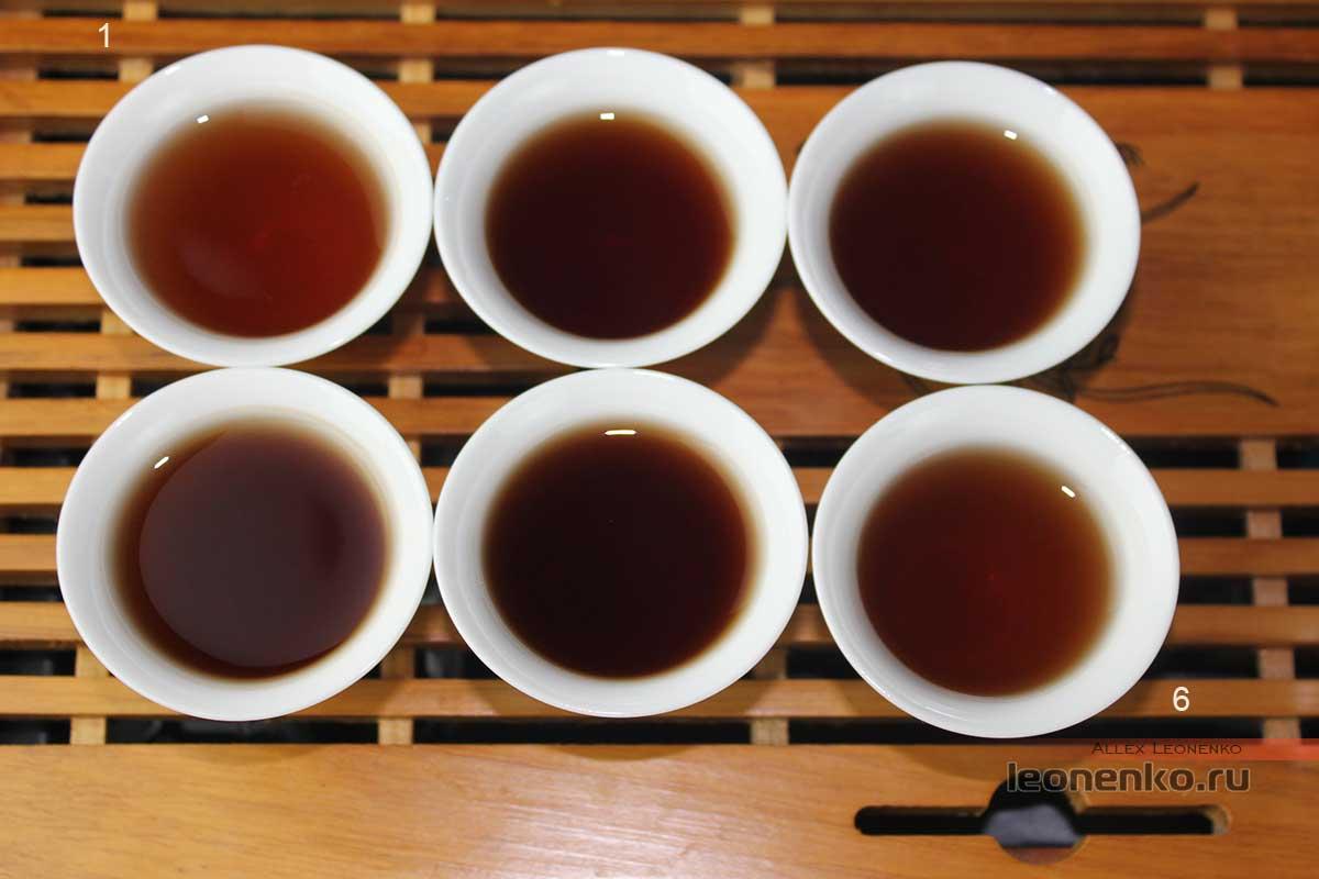 Старые чайные головы, приготовленные проливами