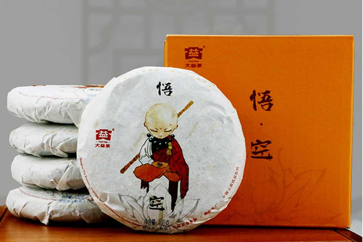 Шу Пуэр «Укун», фабрика Мэнхай Да И, бокс 5 шт х 100 гр. , 2016 г.