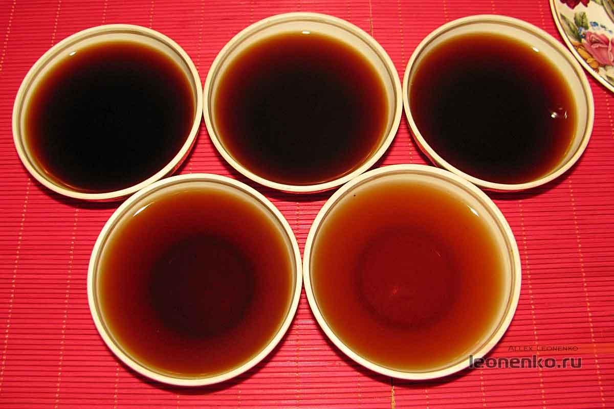 908 пуэр от Haiwan tea - пять проливов чая