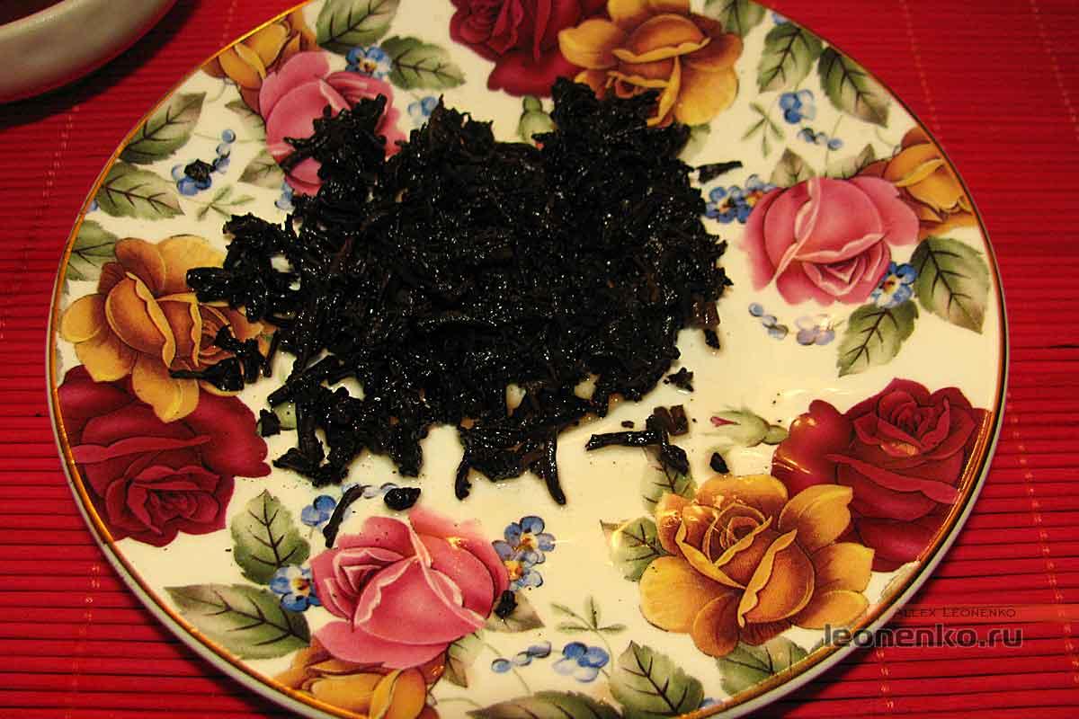 908 пуэр от Haiwan tea - спитой лист