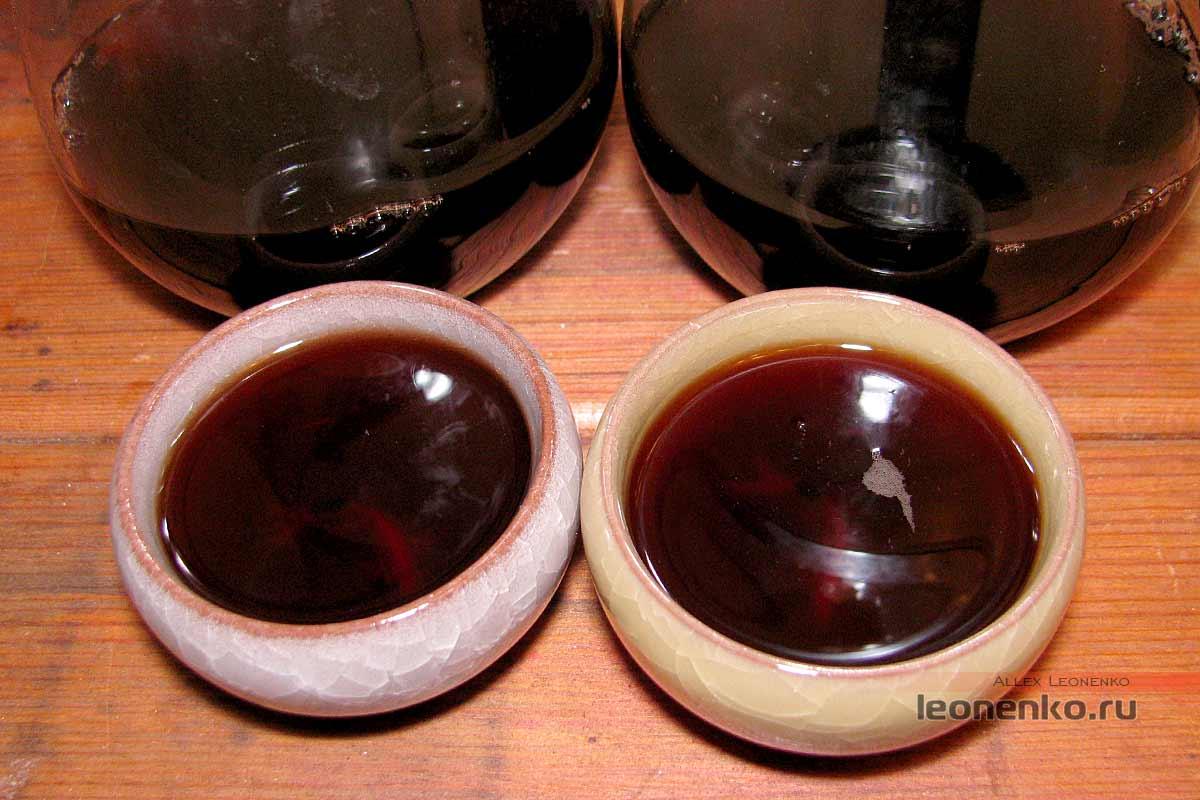 Смола Шу Пуэра 2006 и 2011 года - готовый чай