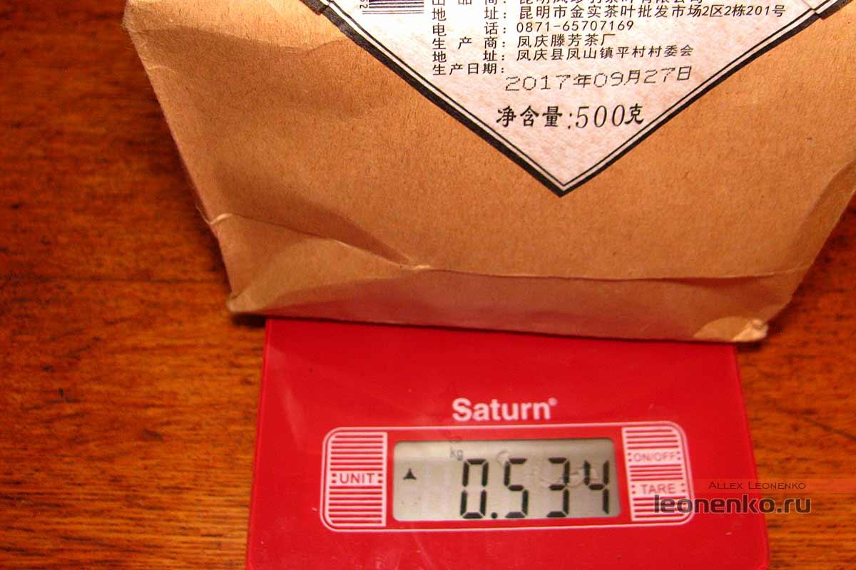 Юньнаньский красный чай biluo от фабрики Fenghetang - вес