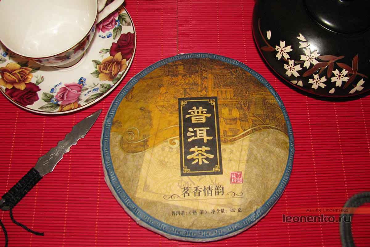 Гао Шань Лао Шу Пуэр  внешний вид чайного блина