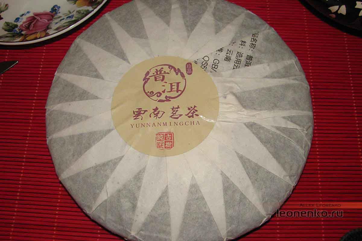 Гао Шань Лао Шу Пуэр - обратная сторона чайного блина