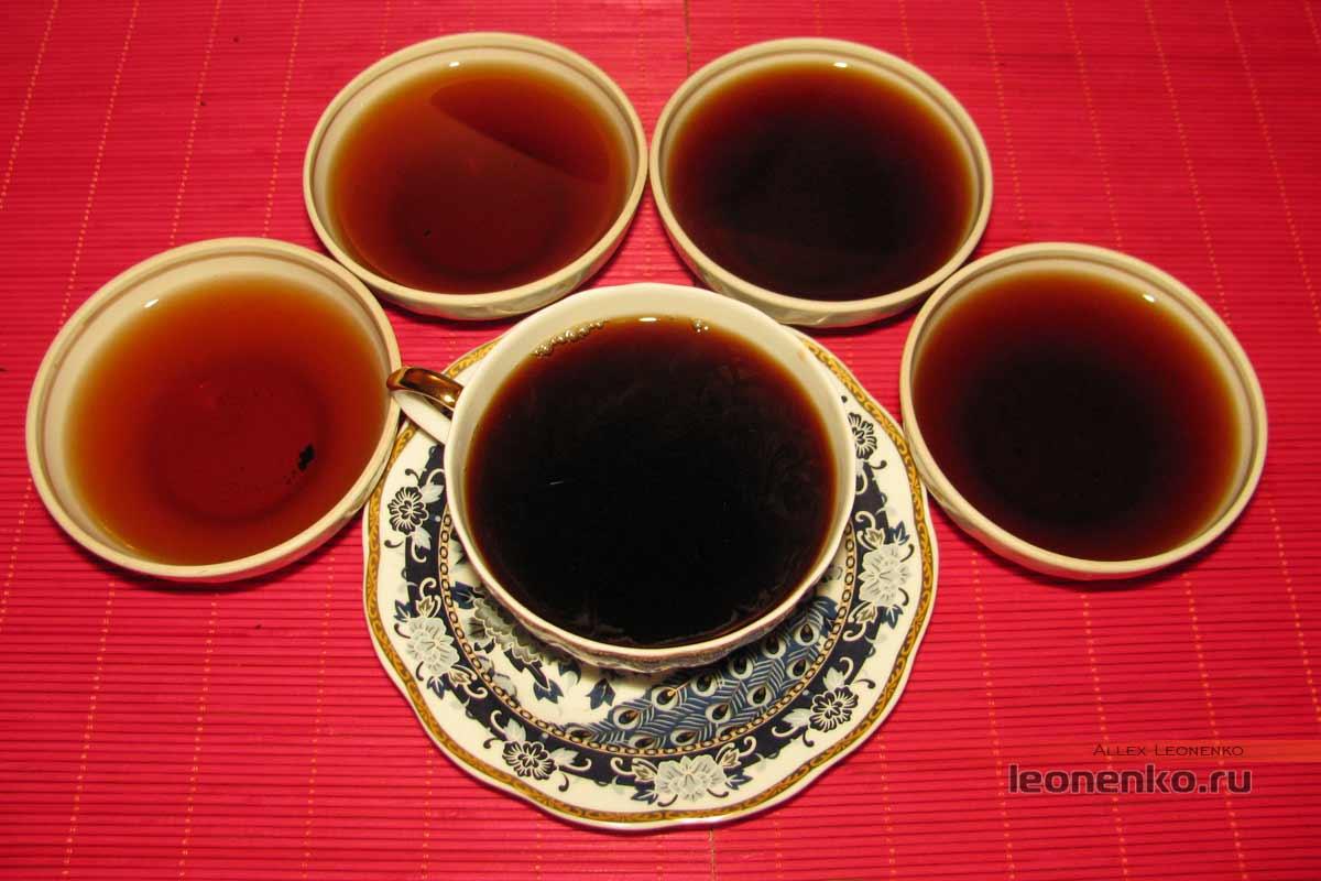 Шу Пуэр 2015 года от фабрики Nan Jian - приготовленный чай