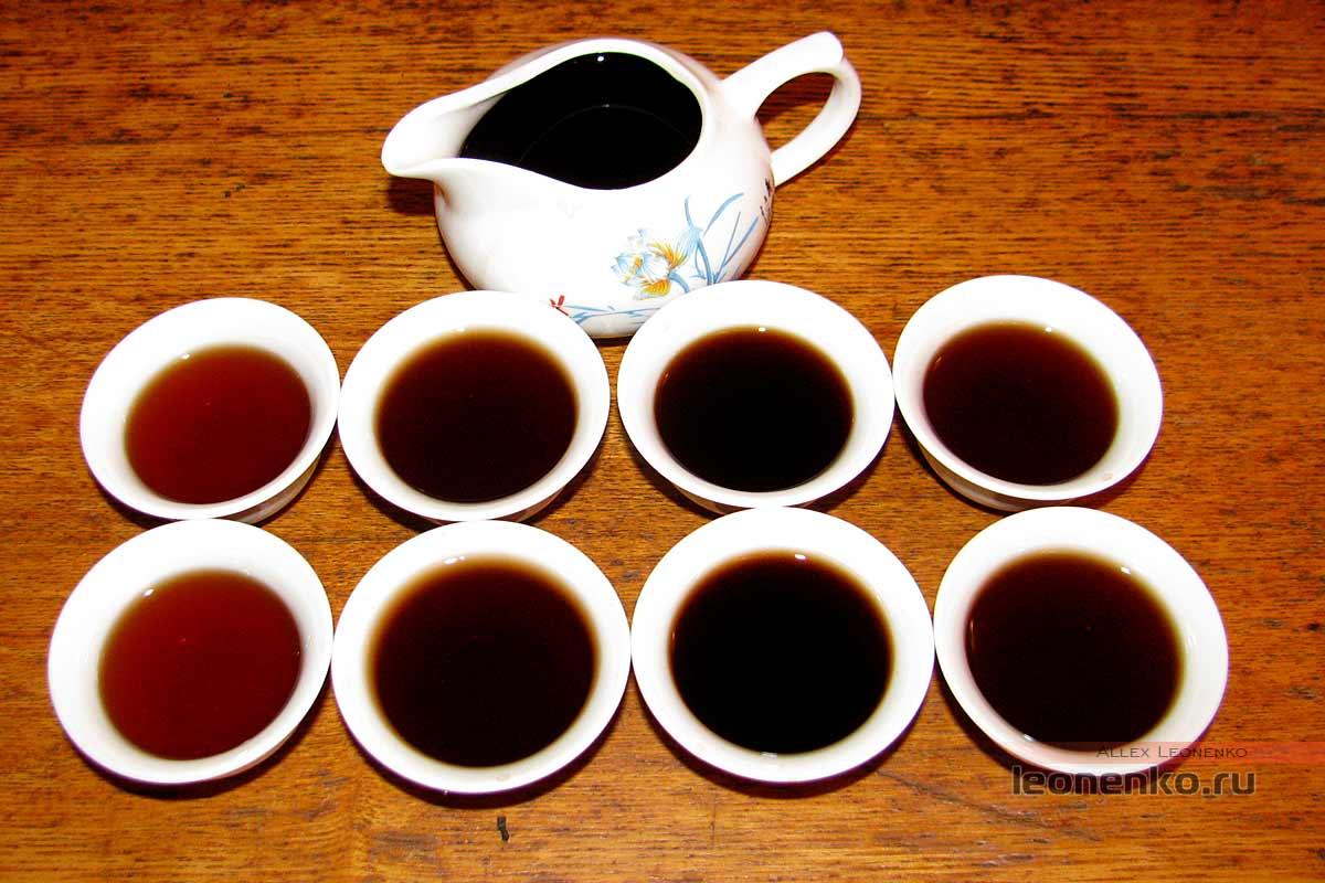 Шу пуэр Пу Юй  2012 года от Yunhe tea – приготовленный проливами чай