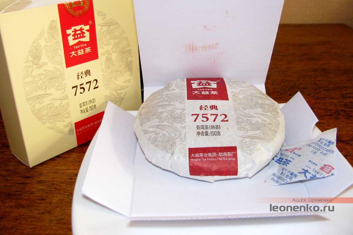 Шу Пуэр  7572 от TaeTea - чай внутри коробки