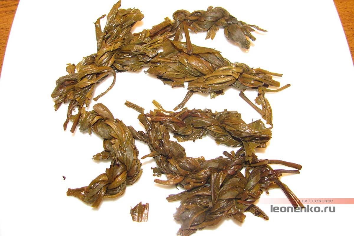 Бяньцзы Ча – чай «косичками» - спитой лист