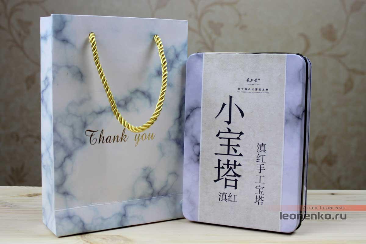Упаковка с чаем, подарочный пакет