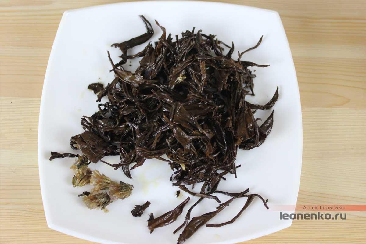 Дянь Хун в жемчужинах Дракона с добавками цветов, спитой лист
