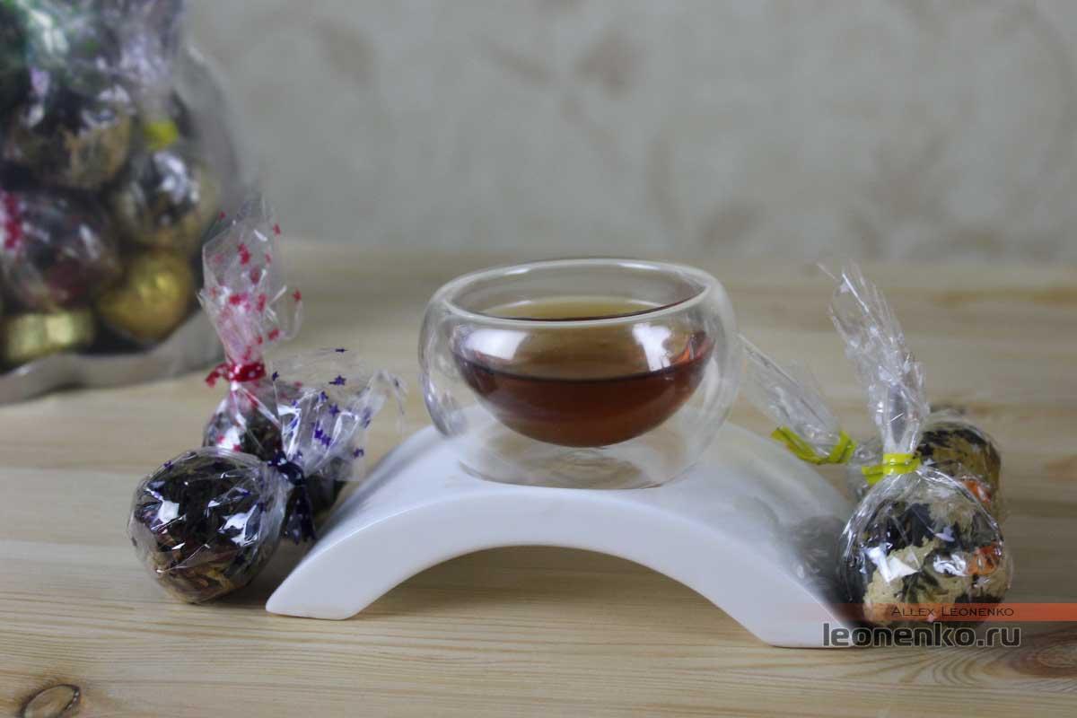 Дянь Хун с жемчужинах Дракона с добавками различных цветков