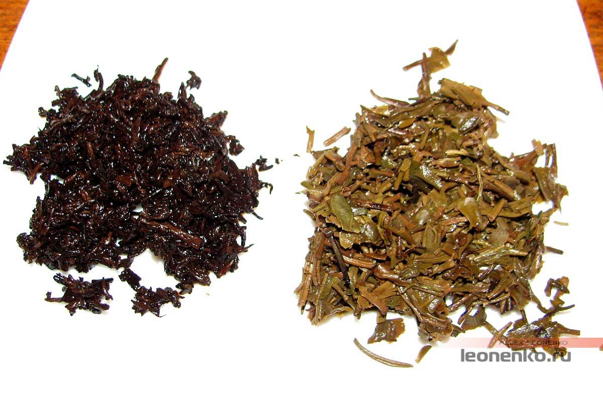 Мини-туо ча  Шу 765 и Шен 764 от Тулинь - спитой лист