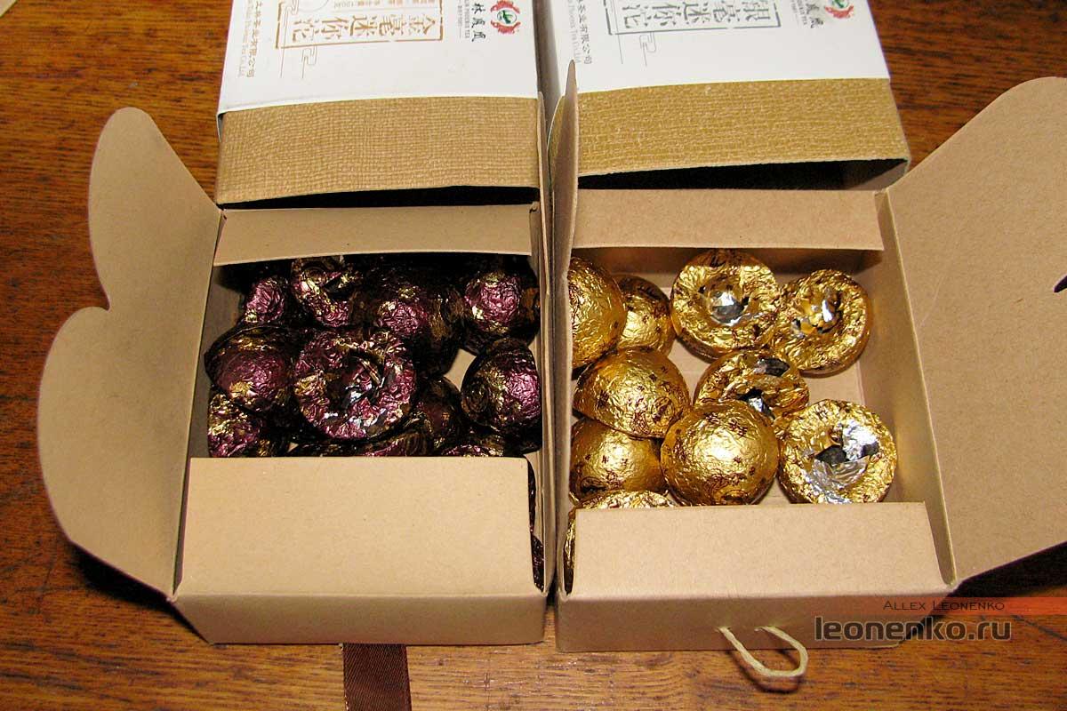 Мини-туо ча  Шу 765 и Шен 764 от Тулинь - содержимое упаковки