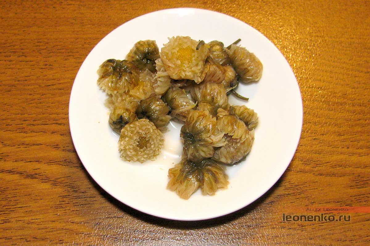 Хризантема, россыпь - чайное дно