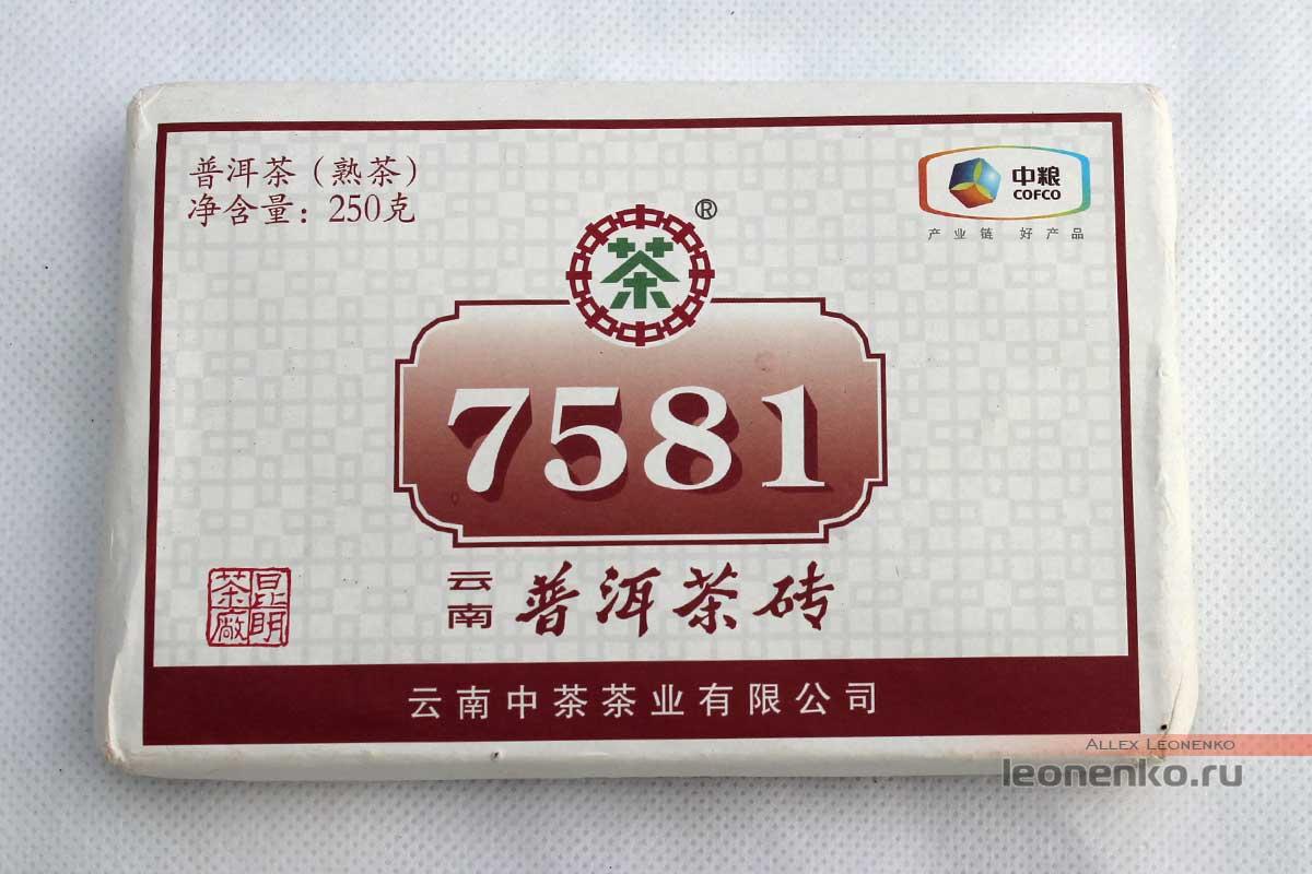 шу пуэр Чжун Ча 7581