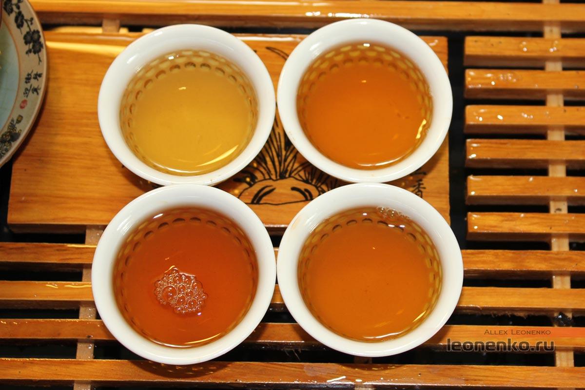 Старый белый чай Лао Бай Ча Шоу Мэй, настой