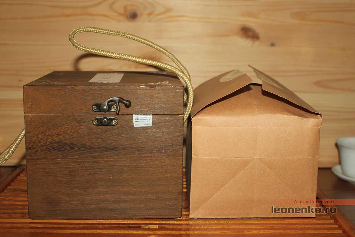 Соотношение размеров коробки и пакета с чаем