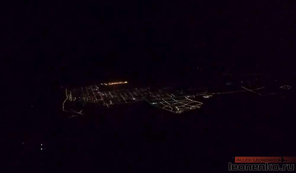 Ночной Китай с высоты 11 км.